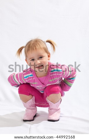 Toddler girl studio portrait