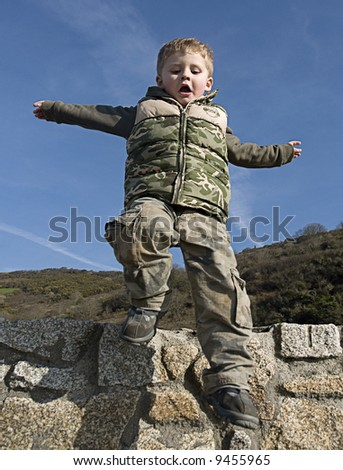 Toddler in action - stock photo