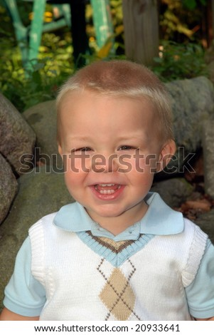 toddler in church clothes - stock photo