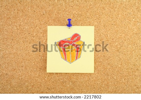Todo list on the pinboard : Christmas shopping - stock photo