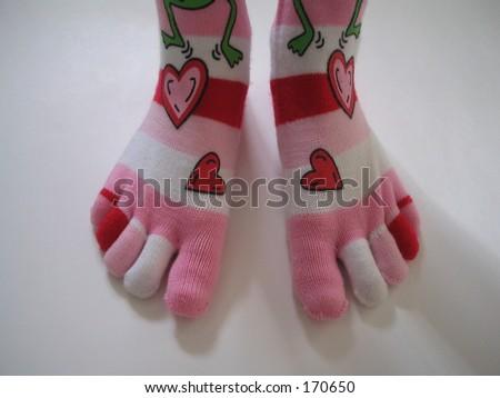 Toe Socks - stock photo