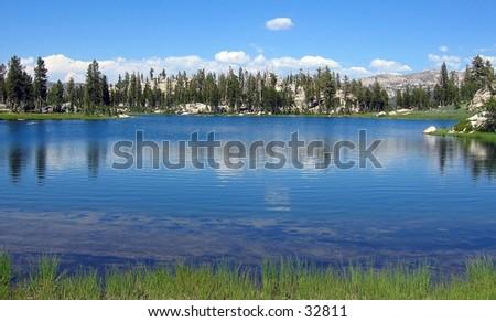 Toejam Lake in El Dorado National Forest, California - stock photo