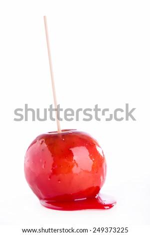 toffee apple - stock photo