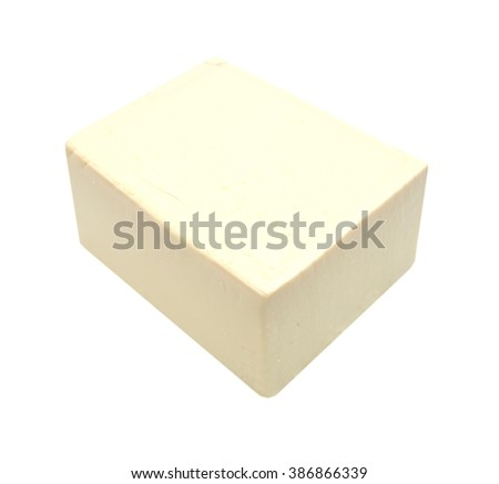 Tofu on white background - stock photo