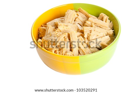 Tofu skin is a Chinese food product made from soybeans. - stock photo