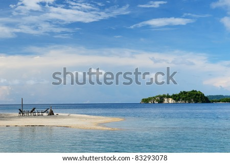 Togean islands on the gulf of Teluk in the central Sulawesi. The most populat tourist dive destination in Indonesia,