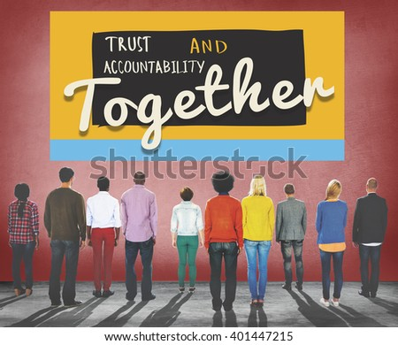 Together Team Community Unity Society Friends Concept - stock photo