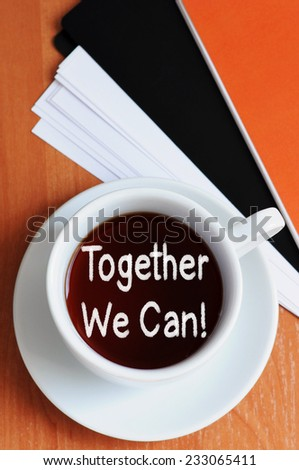 Together We Can! - stock photo