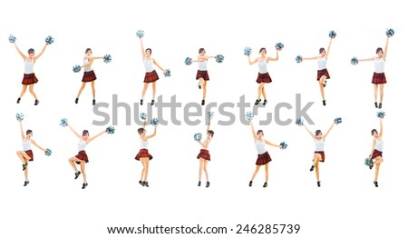 Together we'll Win Dancing Group  - stock photo