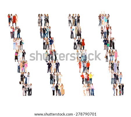 Together we Stand People Diversity  - stock photo