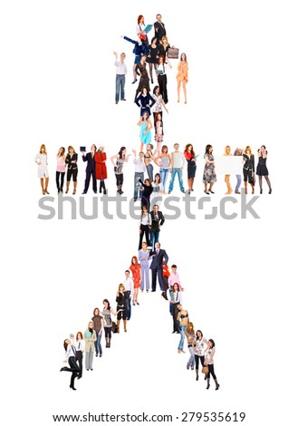 Together we Stand Standing Together  - stock photo