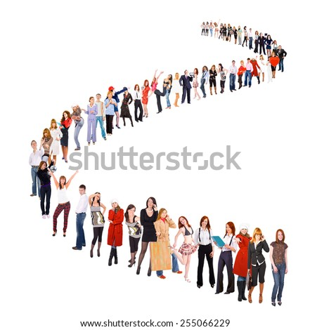 Together we Stand Waiting for their Turn  - stock photo