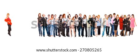 Together we Stand Workforce Concept  - stock photo