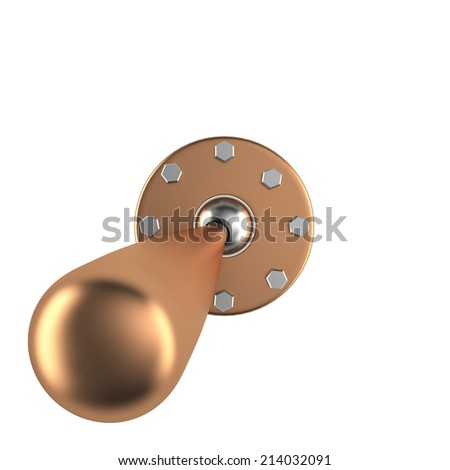 Toggle switch isolated on white background, 3D - stock photo
