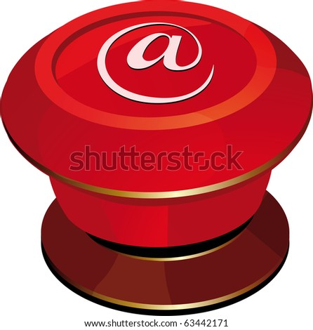 toggle-switch red Internet. Raster version - stock photo