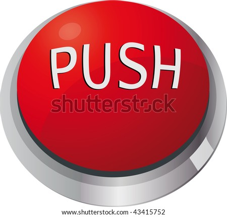 toggle-switch red push - stock photo