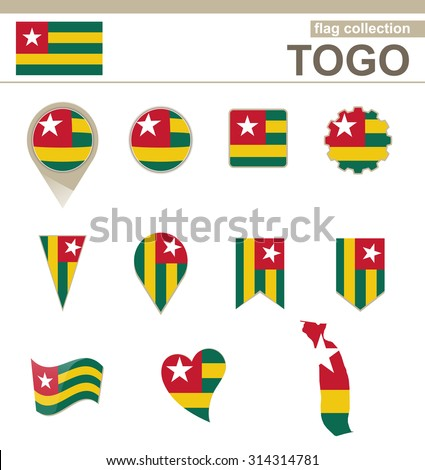 Togo Flag Collection, 12 versions, Rasterized Copy