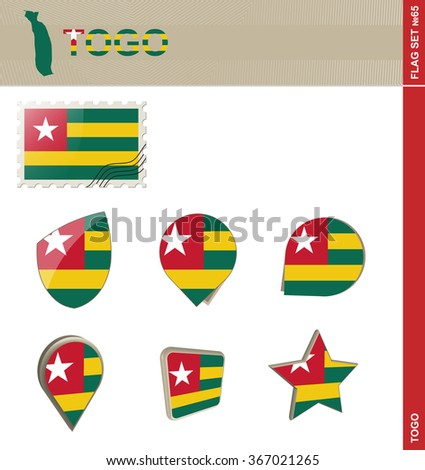 Togo Flag Set, Flag Set 65. Rasterized Copy.