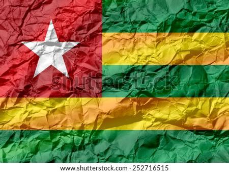 Togo flag themes idea design - stock photo