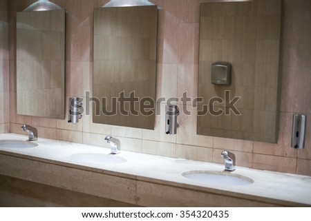Public Bathroom Mirror public toilet mirror stock images, royalty-free images & vectors