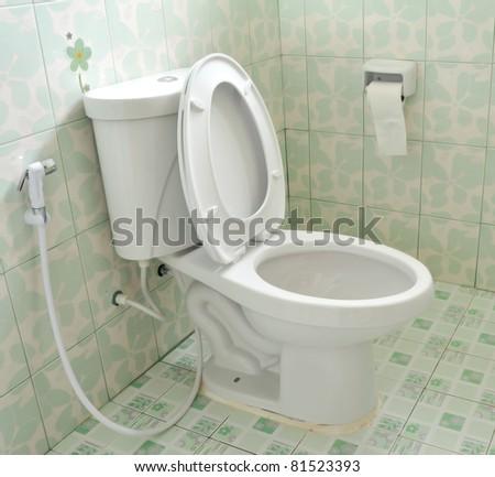toilet at office - stock photo