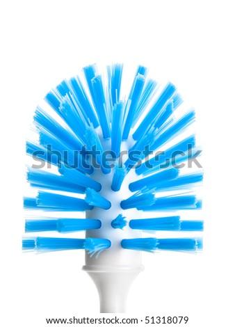 Toilet brush isolated on pure white background - stock photo