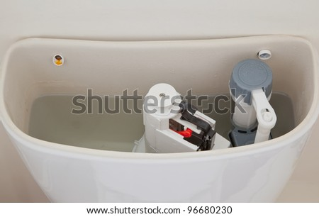 Toilet Cistern - stock photo