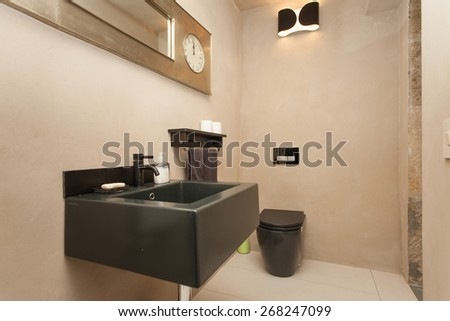 toilet in an apartment - stock photo