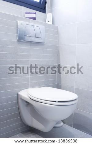 Toilet in home - stock photo