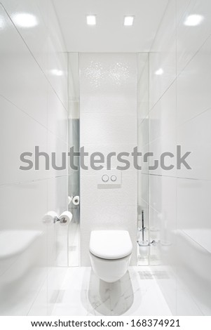 Toilet in home - White Color - stock photo