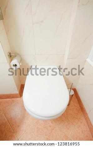 Toilet in the modern bathroom - stock photo