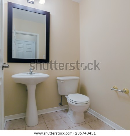 Toilet Interior Design in a new house - stock photo