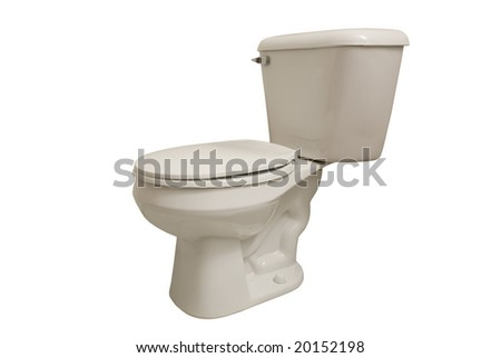Toilet isolated on white - stock photo