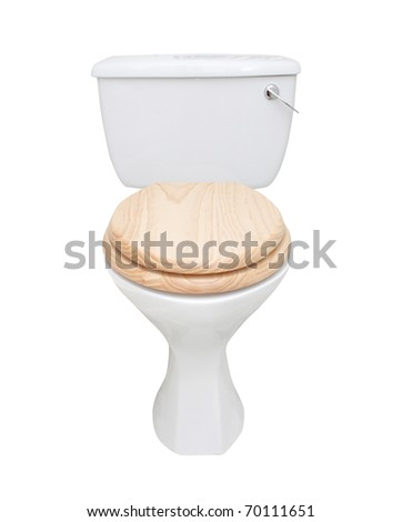 Toilet isolated on white - stock photo