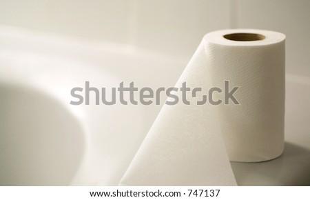 Toilet paper 2 - stock photo