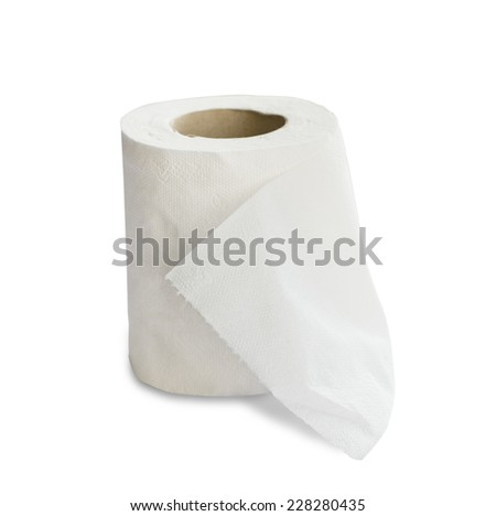Toilet paper bathroom - stock photo