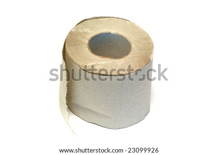 Toilet paper, isolated - stock photo