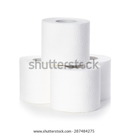 Toilet paper isolated - stock photo