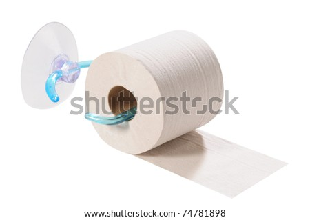 Toilet paper. Isolated