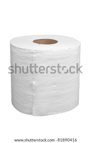 Toilet paper isolated over a white background - stock photo