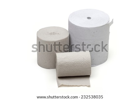 toilet paper on the white background