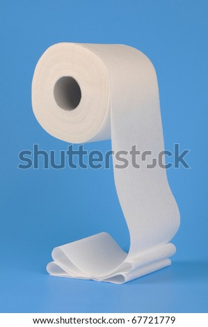 Toilet paper unrolling - stock photo