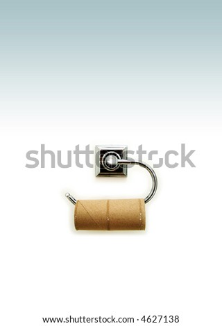 Toilet roll - stock photo