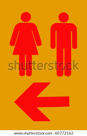 toilet sign and direction - stock photo