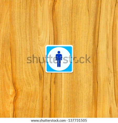 toilet signs - stock photo