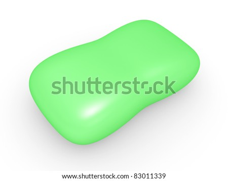 Toilet soap on a white background