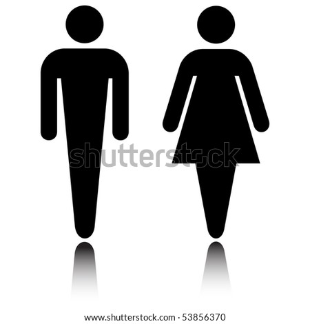 Toilet, Wc sign - stock photo