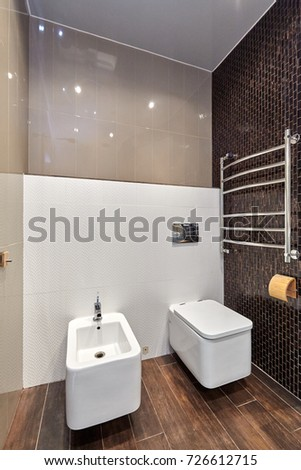 toilet with a beautiful interior
