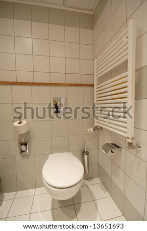 toilette in hotel room