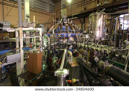 Tokamak. Equipment for experiments with high temperature plasma - stock photo